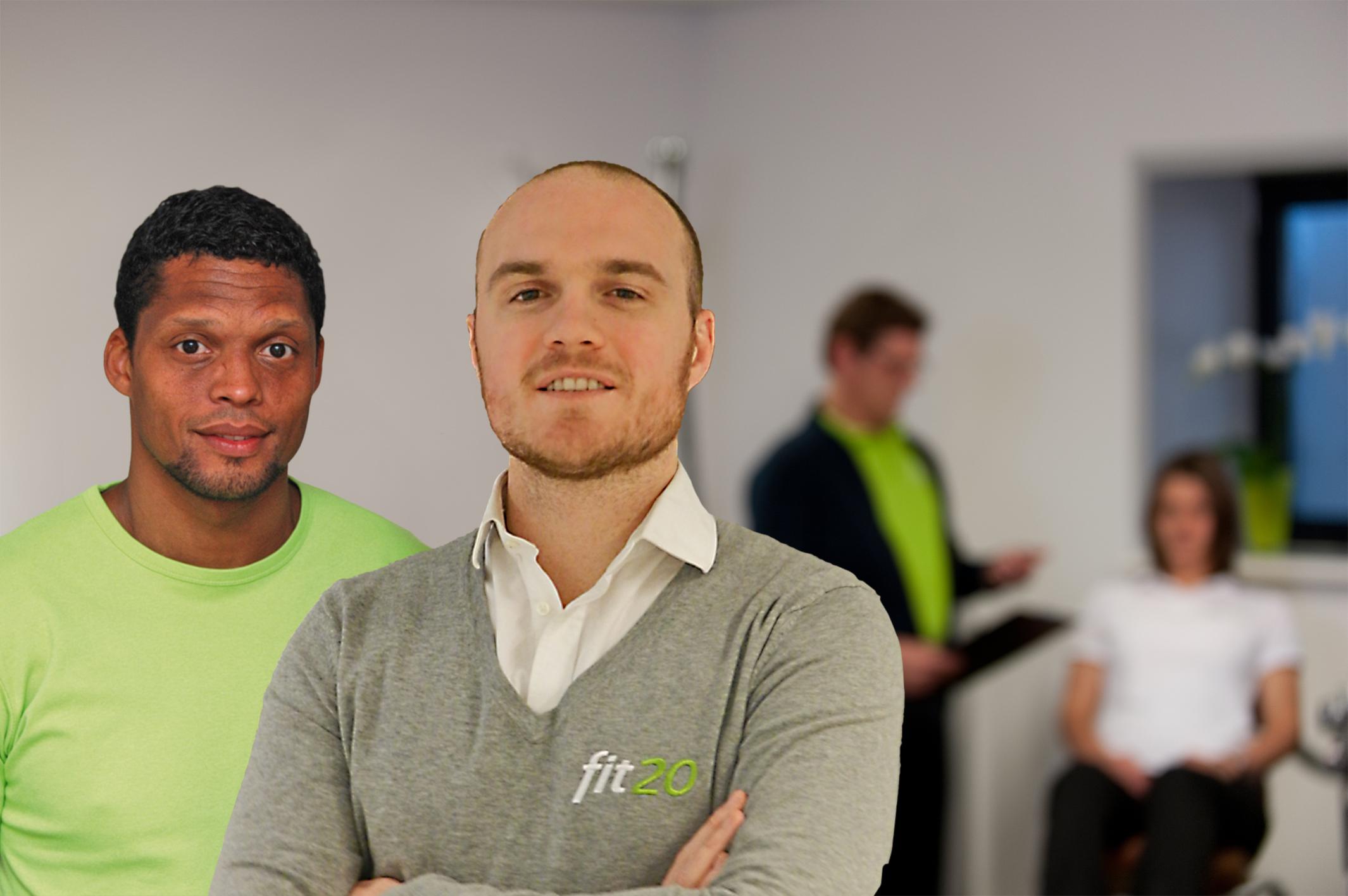 David Lenahan en Delano Hill zijn de trotse eigenaren van de nieuwe fit20-studio in Hoofddorp