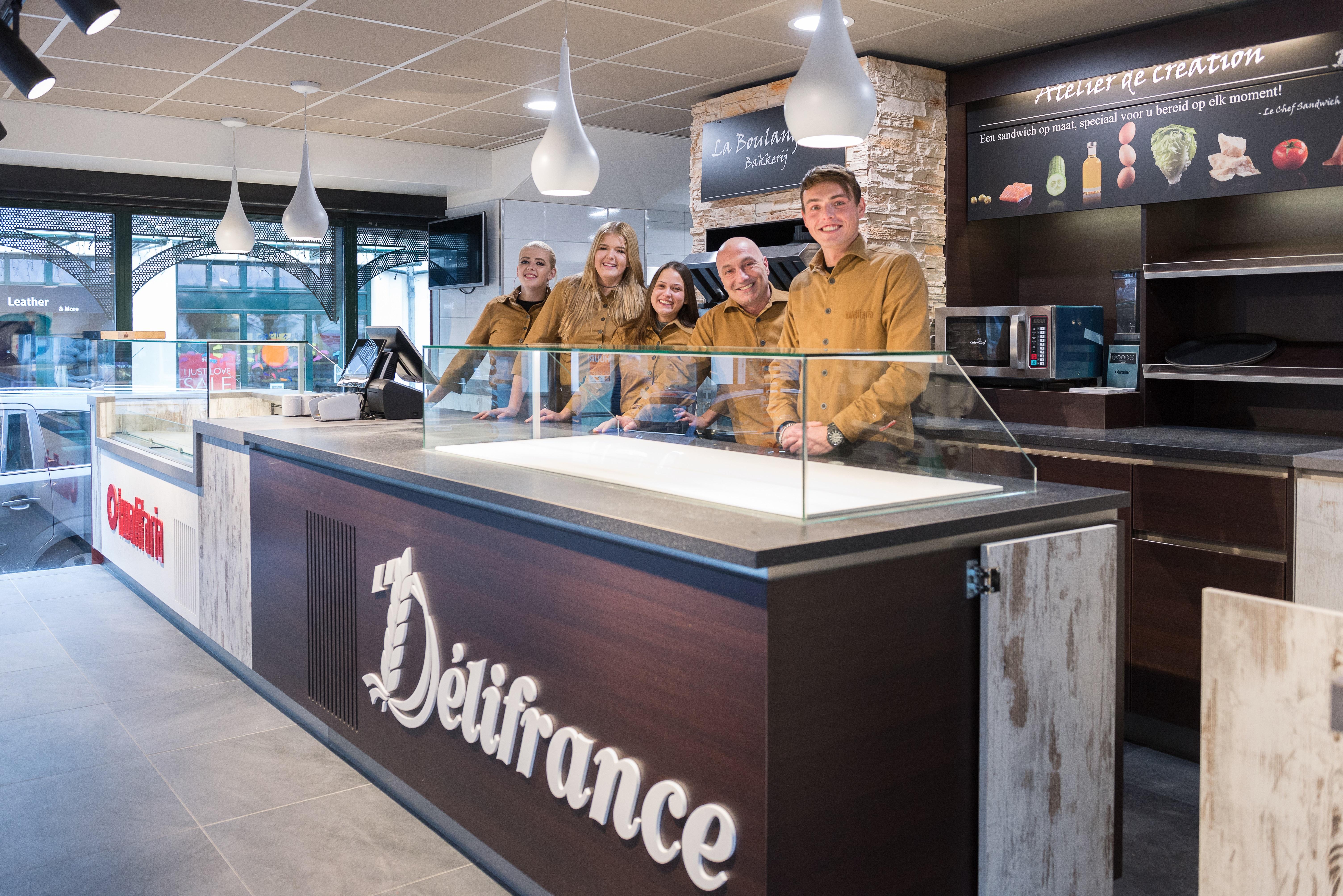 Het team van Kwalitaria-Delifrance Wassenaar. Bron: FranchiseFormules.NL