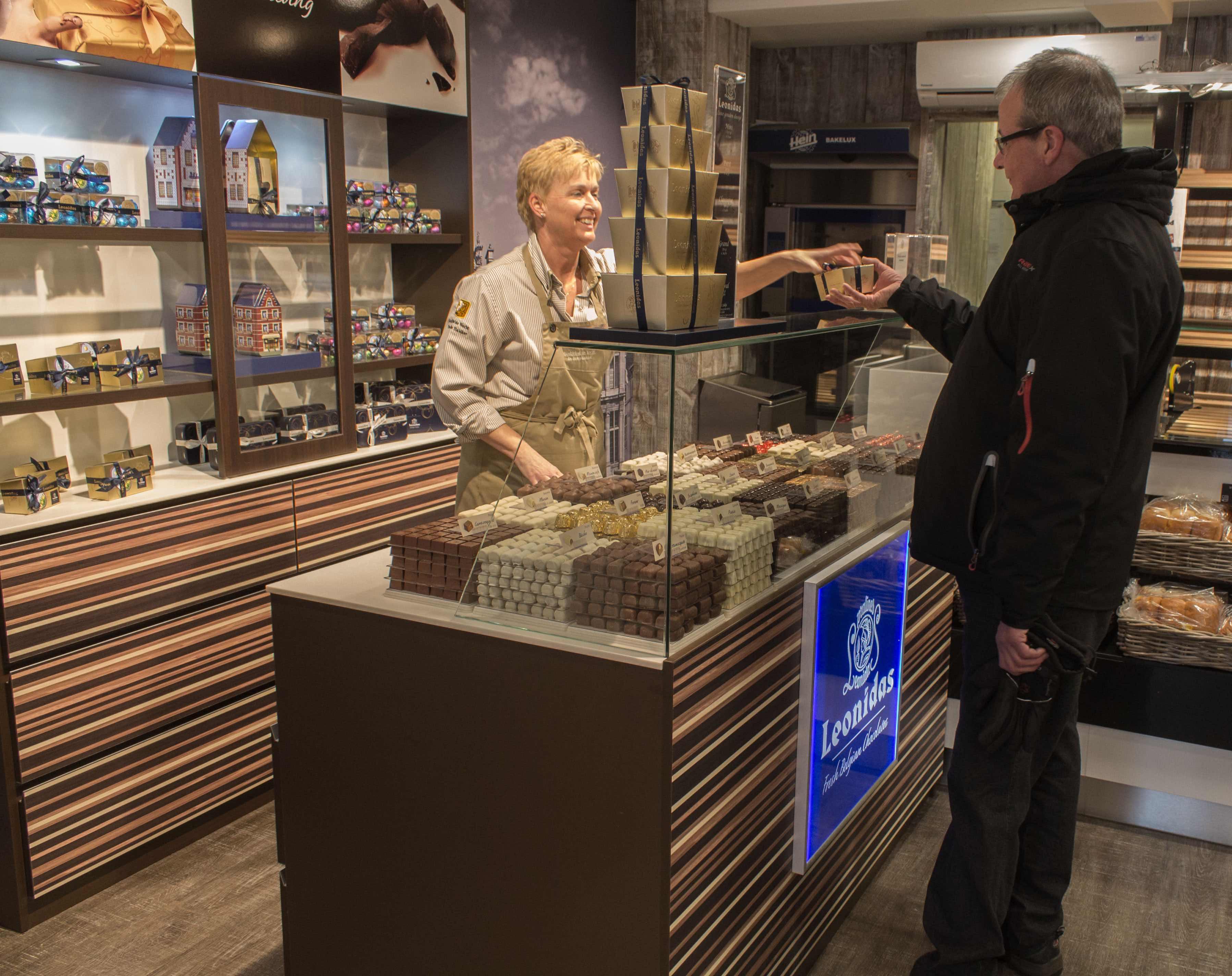 Bakkersspeciaalzaak De Vocht in Eindhoven omarmt concept van beroemde Belgische chocolatier Leonidas. Bron: franchiseFormules.NL