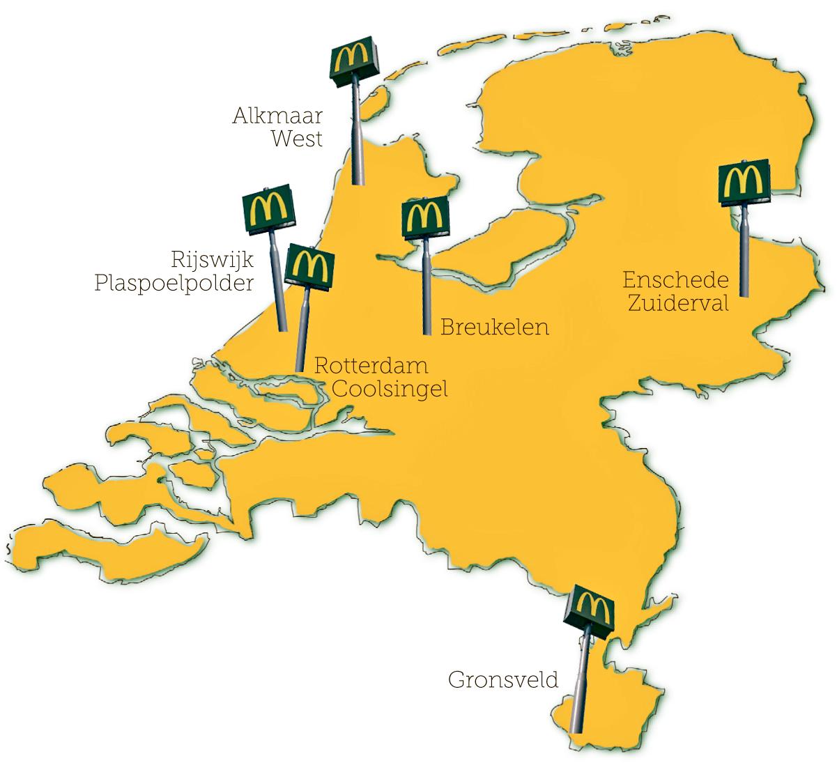 De zes nieuwe restaurantopeningen van McDonald's in 2014 leverden in totaal zo'n 500 nieuwe banen op. Bron: FranchiseFormules.NL