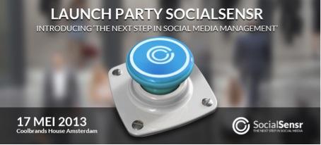 Launch Party Socialsensr op 17 mei