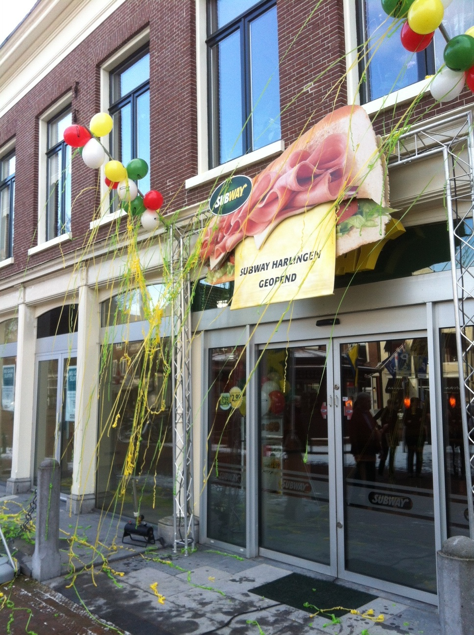 Nieuw Subway restaurant in Harlingen