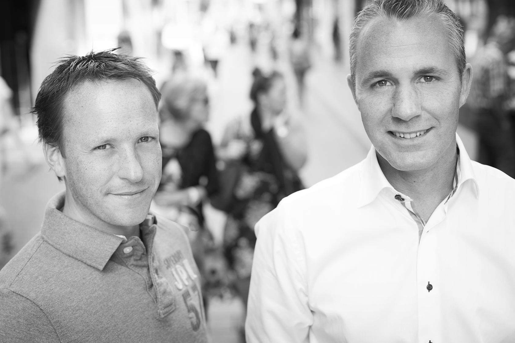 Joris van Gerwen (L) en Marcel Stigter van Chequeplaza.nl