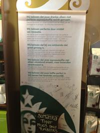 Duidelijkheid bij Starbucks