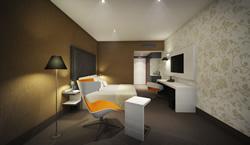 Artist Impression Mercure Hotel Amersfoort Centre: Robert Mulder – Mulderblauw architecten