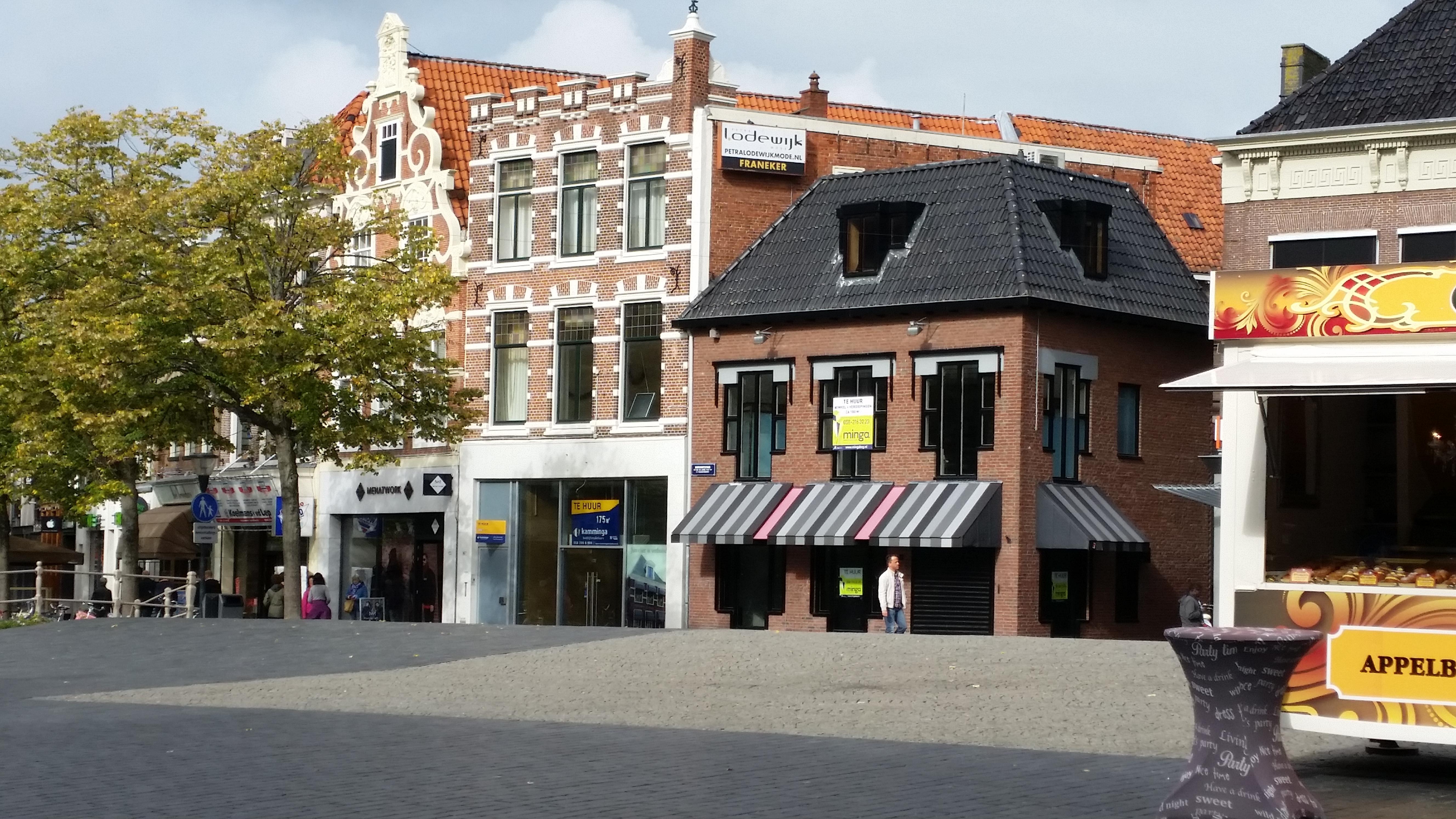 Te huur aangeboden: A1 lokatie in Leeuwarden (Nieuwestad 105). Bron: FranchiseFormules.NL