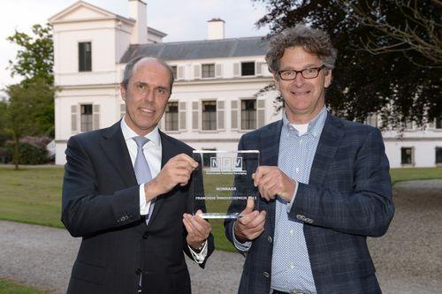 v.l.n.r.: Ruud van Dusschoten,  directeur ING Grootbedrijf en Instellingen en Max Prudon, mede-oprichter van Binnenstadservice