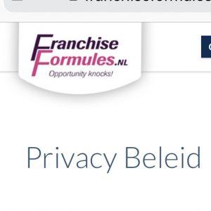 FranchiseFormules.NL past Privacy Beleid aan